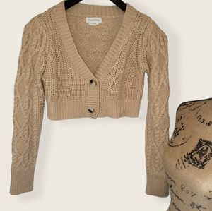 Lovers and Friends Cropped Crochet Sweater